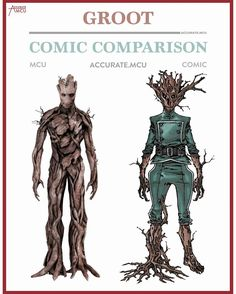 """397 Likes, 8 Comments - • Accurate.MCU • mcu fanpage (@accurate.mcu) on Instagram: """"• GROOT - COMIC COMPARISON • How amazing is it that @jamesgunn made the whole world love and care…"""""""