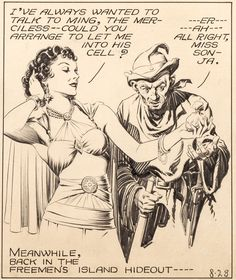 Illustration by Alex Raymond from Flash Gordon series -- Pic found on Arts Backstage. Best Comic Books, Comic Books Art, Comic Book Artists, Comic Artist, Flash Gordon Comic, Manara Milo, Neon Words, Comic Book Panels, Ligne Claire