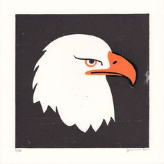 Eagle - James Brown - Linocut - via St Jude's Prints