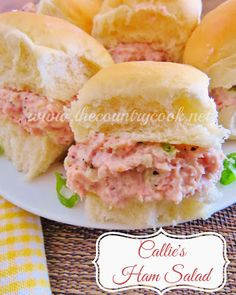 The Country Cook: Callie's Ham Salad. Yummy potted ham spread for crackers or sandwiches! Ham Salad Recipes, Pork Recipes, Cooking Recipes, Amish Recipes, Dutch Recipes, Recipies, Leftover Ham, Le Diner, Country Cooking