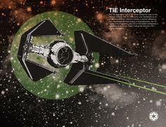 TIE Interceptor /by Chase Kunz #society6 #print #art #starwars $17