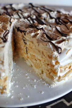 Meringue Desserts, Meringue Cake, Just Desserts, Delicious Desserts, Yummy Food, Baking Recipes, Cake Recipes, Dessert Recipes, Food Cakes