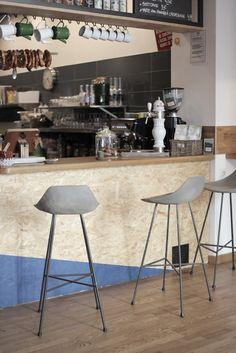 Lyon Beton Concrete Hauteville Bar Chair - Stools & Bar Stools - Furniture