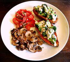 Süßkartoffeln mit Brokkoli-Topping und pikanter Cashewsauce - Rezept - Bild Nr. 5650