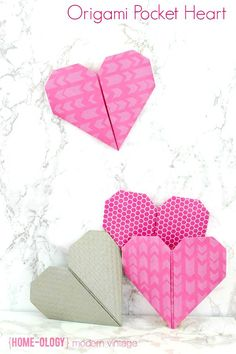 Love in an Origami Pocket Heart | {Home-ology} modern vintage
