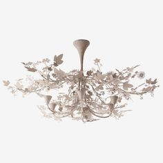 Porta Romana - MCL37 Ivy Shadow Chandelier - Forest White
