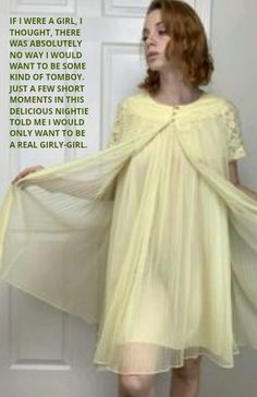 Nighties, Tg Captions, Tomboy, Girly Girl, No Frills, Night Gown, Beautiful Dresses, In This Moment, Clothes For Women