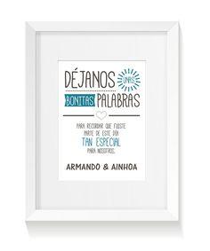 Carteles para la boda de Armando y Ainhoa | Punto&aparty