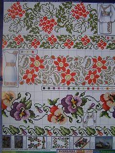 Cross stitch Pattern Ukrainian Vyshyvanka Dress Embroidery Napkin Tablecloth 1