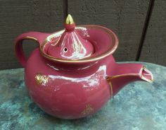Hall Teapot Windshield Art Deco Vintage 1940s by moonstruckcottage, $34.00