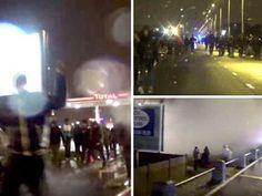 CALAIS AT WAR: Thousands of migrants scream 'UK! UK!' in violent riot as Jungle…