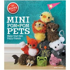 Klutz-Mini Pom Pom Pets Book Kit. Make your own fuzzy friends! With this simple pom-pom system, you can make more than twenty pint- sized pets with the twirl of a fork. From itty-bitty kitties to cudd