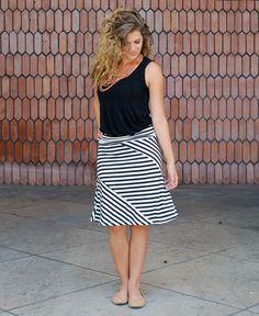 Black & White Stripe Short Skirt : Cute Aprons - Cute Dresses - Cute Maxi Skirts - Cute Gifts - Daisy Shoppe