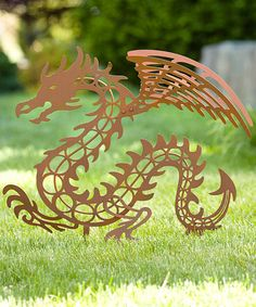 Look at this #zulilyfind! Rust Dragon Garden Stake #zulilyfinds