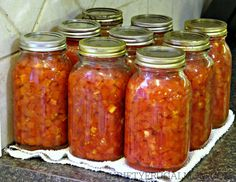 How to Can Diced Tomatoes (jars)