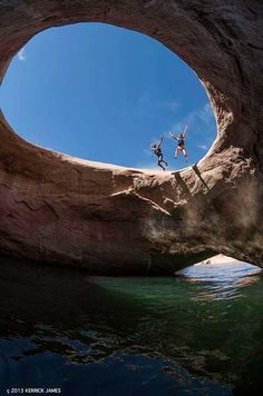 Rainbow bridge at lake Powell, Utah