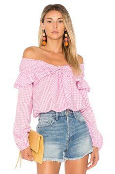 Lovers + Friends X REVOLVE Rebecca Top in Pink Gingham | REVOLVE