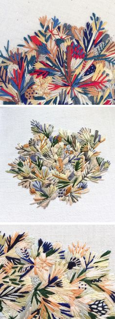 Floral embroidery by Slow Stitch Sophie