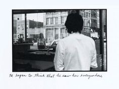 Duane michals- do really like how there's a little description thing. Would like to use.