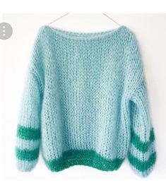 Blue and Green Sweater Knitting Wool, Sweater Knitting Patterns, Knit Patterns, Big Knits, Mohair Sweater, Knit Fashion, Sweater Weather, Pulls, Knitwear