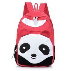 Women Red Panda Print Backpack Canvas School Bag Girl Rucksack Satchel Bookbag ^