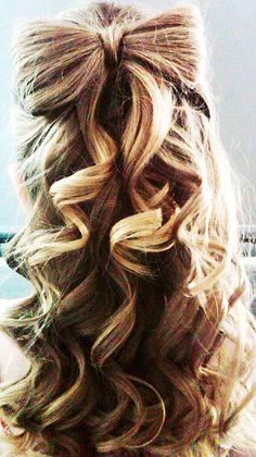 half up hair bow(: