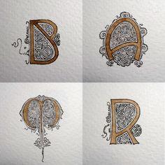 Anachropsy - Calligraphie latine par Benoit Furet - Le soleil