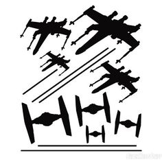 Star Wars X-Wing/TIE Fighter Dogfight Stickers- Black $4.99