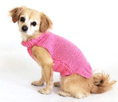Ready to ship Small Handmade Knit Solid Pink Pet by PawApparel, $18.00