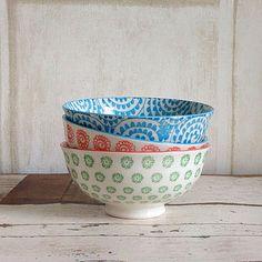 keramiek - ceramic bowls - colours