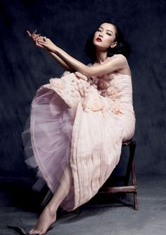 Nimue Smit  photographed by Stockton Johnson, styled by Lucienne Leung-Davies for Glass Magazine ~ Chanel Haute Couture