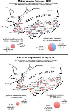 "The East Prussia(n) plebiscite, also known as the ""Allenstein and Marienwerder plebiscite"" or ""Warmia, Masuria and Powiśle plebiscite"", was a plebiscite for self-determination of the regions of Warmia (Ermland), Masuria (Mazury, Masuren) and Powiśle, which had been in parts of East Prussia and West Prussia, in accordance with Articles 94 to 97 of the Treaty of Versailles. Prepared during early 1920, it took place on 11 July 1920"