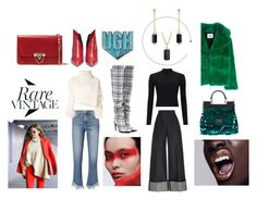 """Rare Vintage"" by danai-babali on Polyvore featuring Frame, Martin Grant, Off-White, Ann Demeulemeester, Valentino, Anya Hindmarch, MSGM, Dolce&Gabbana, David Yurman and Miss Selfridge"