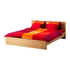 malm bed frame oak veneerlury 180x200 cm ikea