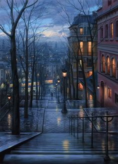 Eugene Lushpin, apaprently (!!) oil on canvas!