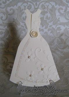 Stamp-n-Design: Tri-Fold Wedding Dress Card
