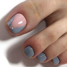 #nails #nailart #nailsofinstagram #naildesigns #nailideas #nailartdesigns #nailcolors #ногти #ногтидизайн #nailfashion #педикюр #pedicure #pedicureideas #педикюридея Pretty Toe Nails, Cute Toe Nails, Toe Nail Art, My Nails, Gel Toe Nails, Gel Toes, Crazy Nails, Nail Nail, Coffin Nails