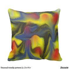 Unusual trendy pattern pillow