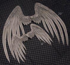 Wings - Gray Angel by *TheMushroomPeddler on deviantART
