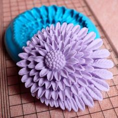 Chrysanthemum Mold w/ Leaves 39mm Flower Mold Flexible Silicone Mold Brooch Mold Resin Wax Mold Fondant Mold Cupcake Topper Gumpaste Mold. $6.95, via Etsy.