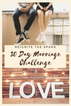 Love the Ones You're With - 30 Day Marriage and Relationship Challenge Marriage Challenge, Relationship Challenge, Relationship Advice, Relationships, Spice Up Marriage, Marriage And Family, Marriage Advice, Challenges To Do, Valentines Day Couple