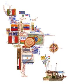 Michele Tranquillini - Map of South America