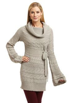 KATHERINE BARCLAY Cowl Neck Sweater Dress -- I have a weakness, and it's sweater dresses