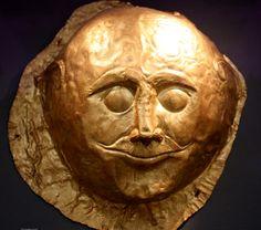 Mask of Mycenae, Greece. National Archaeological Museum of Athens