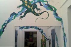 Holes Lizard mural