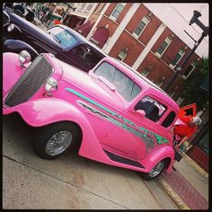 Pink automobile!!! Bebe'!!! Love that pink!!!