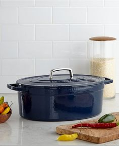 Martha Stewart Collection Collector's Enameled Cast Iron 8 Qt. Oval Casserole - $77.99