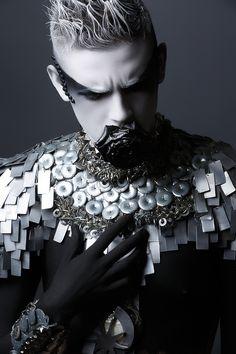 Visions of the Future: Pascal Latil - Nicolas Fournier - hair Chantal Faure - makeup Aline Carpentier - wardrobe jewelry Martine Brun