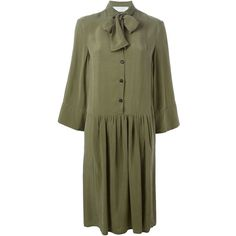 Société Anonyme Formidable Shirt Dress (10,585 THB) ❤ liked on Polyvore featuring dresses, green, shirt dress, green shirt dress, shirt-dress, long shirt dress и green dress