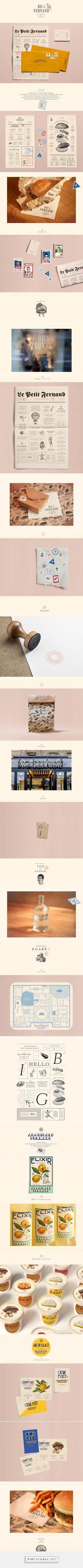 Big Fernand French Burger Restaurant Branding and Menu Design by Violaine & Jeremy